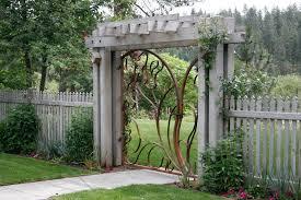 Backyard Gate Ideas Wooden Gate Designs Landscape Contemporary With Arbor Concrete
