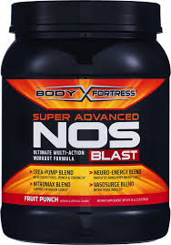 body fortress fruit punch super advanced nos blast 32 0 oz