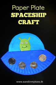 busy hands paper plate spaceship spaceship craft spaceship and