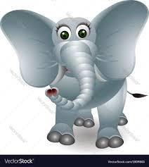 funny elephant cartoon royalty free vector image