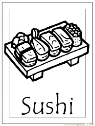 japan 005 sushi coloring pages japanese culture for kids