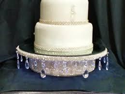 real rhinestone wedding cake stand teardrop design