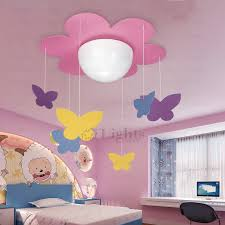 Kids Ceiling Light Fixtures Pink Butterfly Pendant - Butterfly kids room