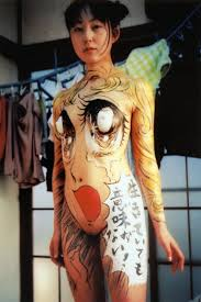 body painting with comic animation