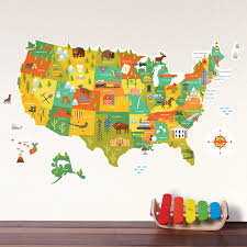 United States Wall Map by United States Map Wall Decal Walldecals Com