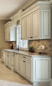 How To Antique Glaze Kitchen Cabinets Kitchen Delightful White Painted Glazed Kitchen Cabinets White
