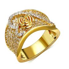 bridal gold rings hy heart design wedding ring for women setting aaa