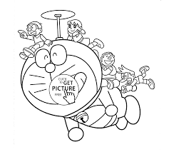 doraemon helicopter coloring pages for kids printable free