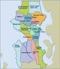 seattle map location map of seattle washington neighborhoods many of our