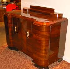 Furniture Storage Units Amazing Quality Art Deco Walnut Curved Buffet Or Storage Unit