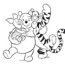cartoons coloring pages gt winnie pooh coloring pages gt cute