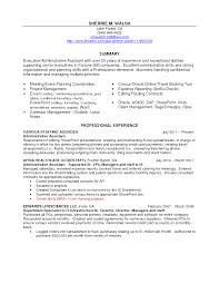 Resume Sample Receptionist Administrative Assistant by Sample Resume Executive Assistant Job