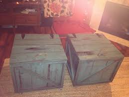 Shipping Crate Coffee Table - this is the finished coffee table j did antique shipping crate