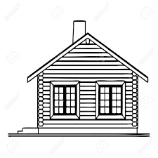 lodge clipart wooden house pencil and in color lodge clipart