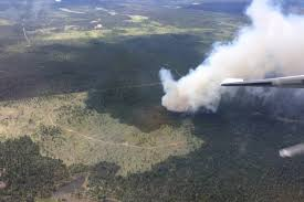 Bc Wildfire Drone by Forest Fire Breaks Out West Of 100 Mile House Williams Lake Tribune
