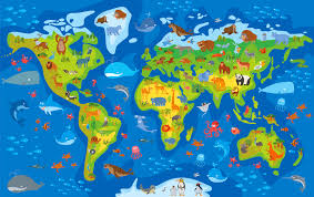 World Map Scotland by Sandie Robb Senior Education Officer For The Royal Zoological