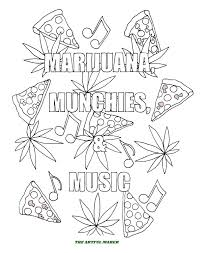 marijuana munchies u0026 music coloring pages by the