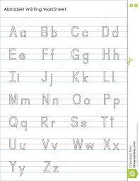 practice alphabet alphabet writing practice worksheet stock illustration image
