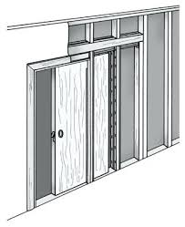 Installing Interior Sliding Doors Wall Sliding Doors Wall Mounted Wardrobe Contemporary Wooden