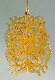 danbury mint 1983 gold ornament collection at