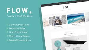flow beautiful u0026 simple wordpress blog theme themes u0026 templates