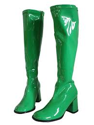 womens boots green 1970s green go go boots shoes late 60s or early 70s reproduction