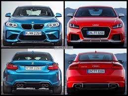 audi tt m top gear tests bmw m2 vs audi tt rs