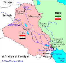 map of irak map of the iran iraq war