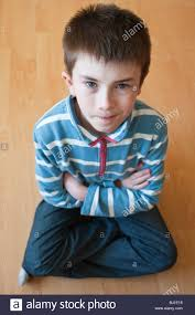 a model released picture of a 10 year boy in the uk stock