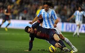 pertandingan Malaga vs Barcelona