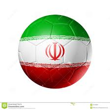 National Flag Iran Soccer Football Ball With Iran Flag Stock Illustration Image