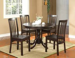 2 options for a round kitchen table and chairs kitchen espresso