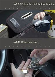 1xpu car seat gap slit filler pocket catch catcher box coin
