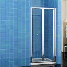 Clear Glass Shower Door by Bi Fold Shower Doors