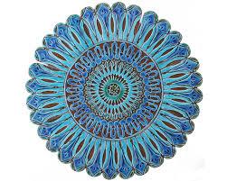 Morrocan Design 52cm Ceramic Tile With Moroccan Design 52cm Circle Outdoor