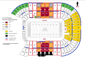 cost for gophers football season tickets to rise for most seats
