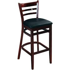 Wooden Bar Stool With Back Ladder Back Wood Bar Stools