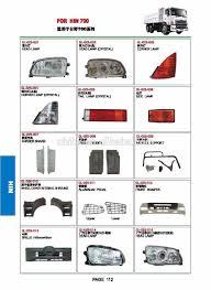 truck body parts lamps bumper grille corner board front fender