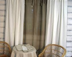 Tie Top White Curtains Linen Curtain Panel Sheer Grey Tie Top 52 X 84 Eco