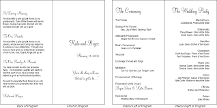 wedding programs exle program for wedding reception format wedding ideas 2018