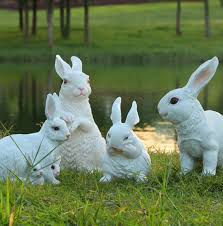 rabbit garden decor home design and decorating