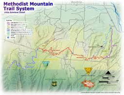 Colorado Mountain Map by Methodist Mountain Trail System Salida Mountain Trails