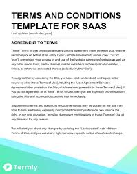 free terms conditions templates downloadable sles termly