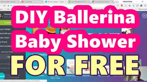 diy ballerina baby shower decorations and games that you can print