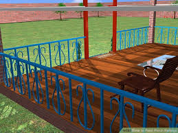 Outdoor Banister How To Paint Porch Railings 12 Steps With Pictures Wikihow