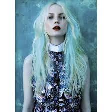 blue purple hair polyvore