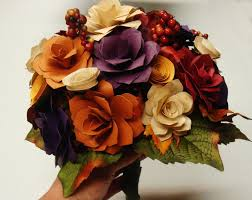 Fall Flowers For Wedding Wedding Flowers Paper Flowers For Wedding Bouquets
