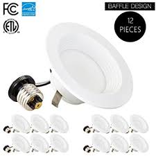 nora 4 inch led recessed lighting 12 pack 4 inch dimmable led downlight 9w 65w replacement