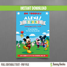 mickey mouse clubhouse party mickey mouse clubhouse party 5x7 in birthday invitation set 2
