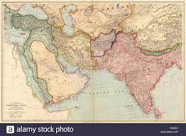 Asia And Middle East Map by The Countries Between Constantinople And Calcutta Including Turkey
